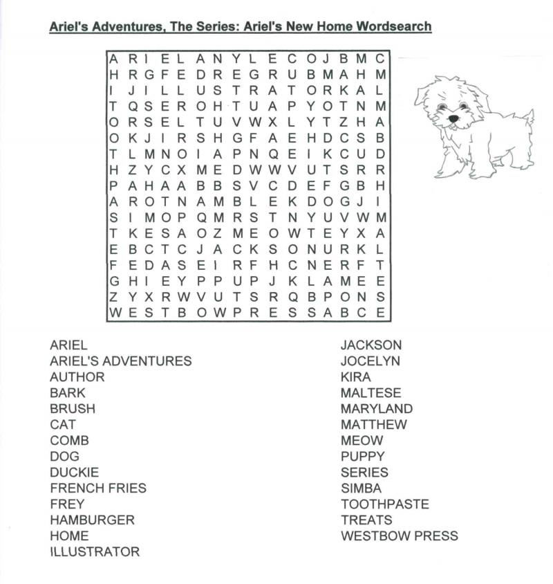 Ariel's New Home Wordsearch